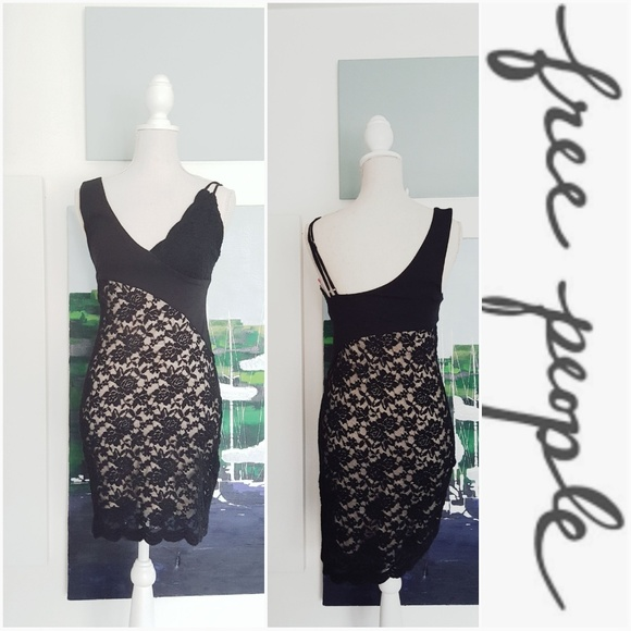 Free People Dresses & Skirts - NWT FREE PEOPLE BLACK LACE BODYCON DRESS